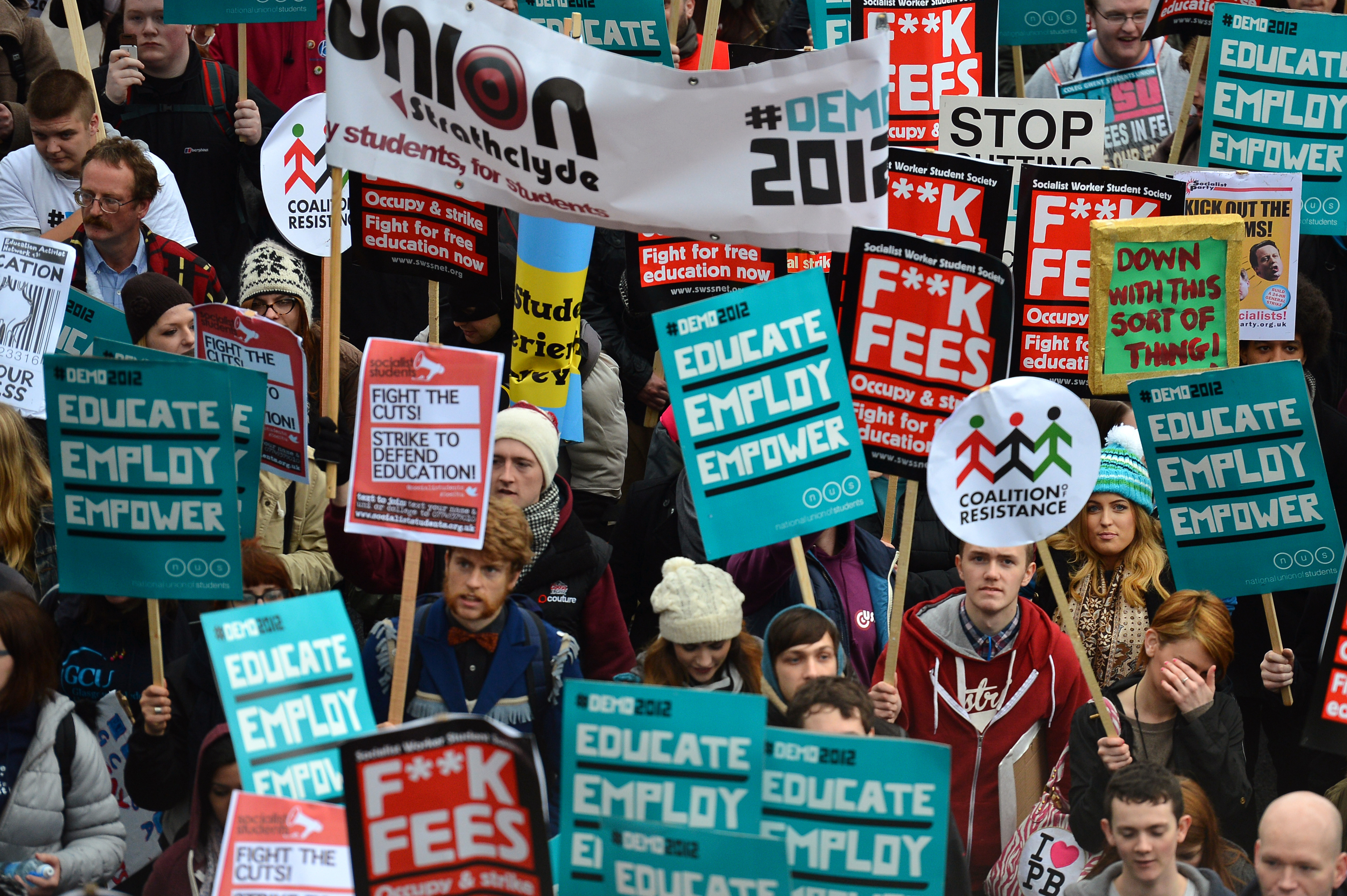 tuition fees protests uk
