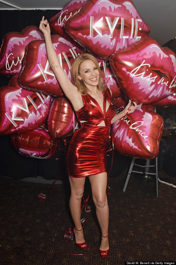 Kylie Minogue Wows In Red Dominatrix Dress At G-A-Y ... Kylie Minogue Kiss Me Once Photoshoot