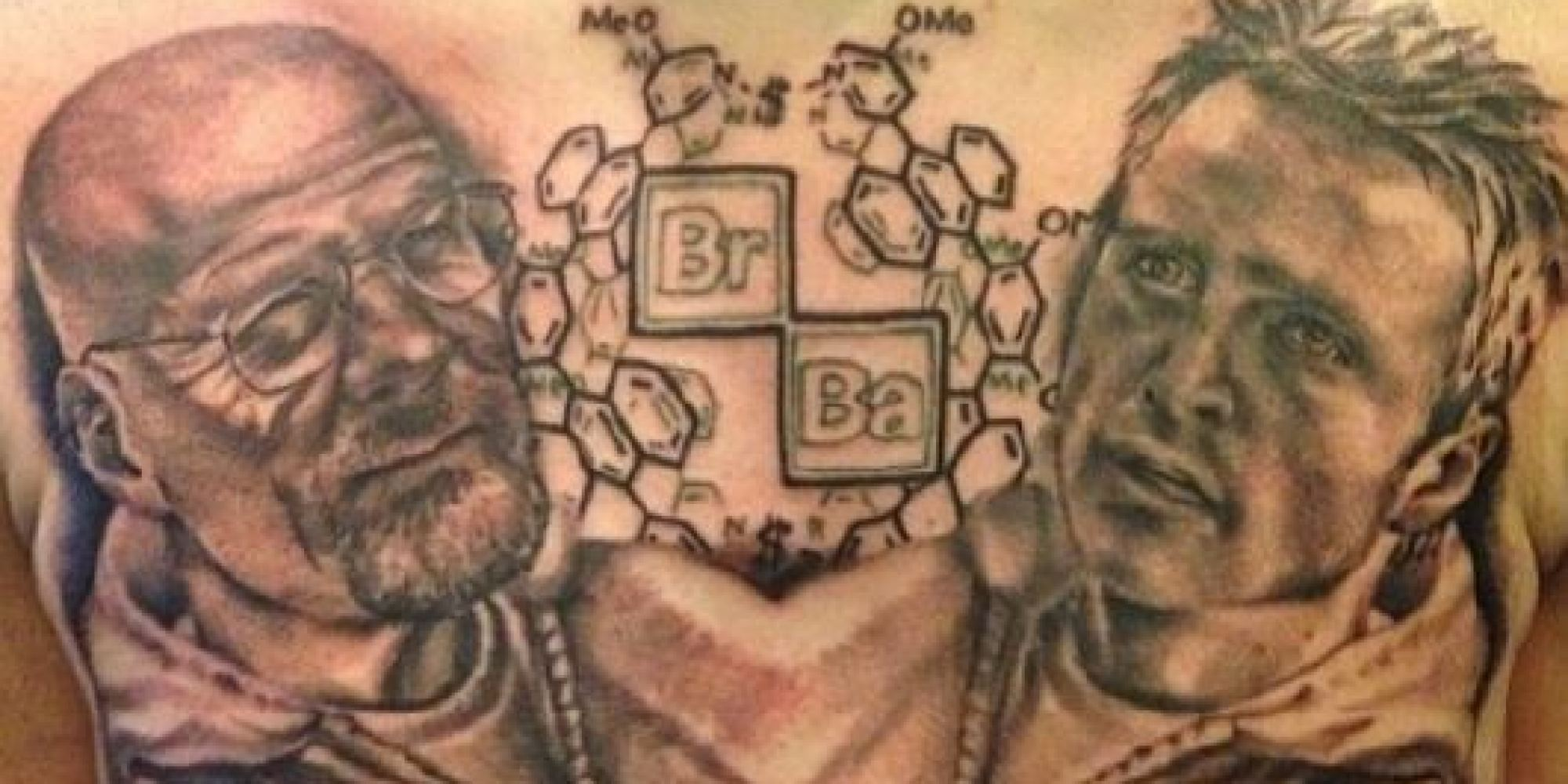 this breaking bad tattoo is the mark of a true superfan