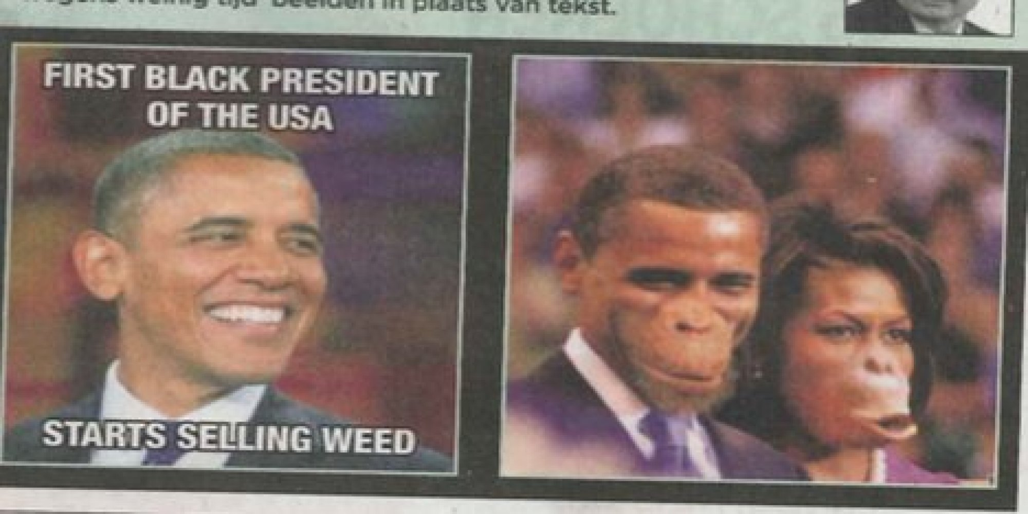 Belgian Newspaper Accused Of Racism For Picture Of Obama And ...