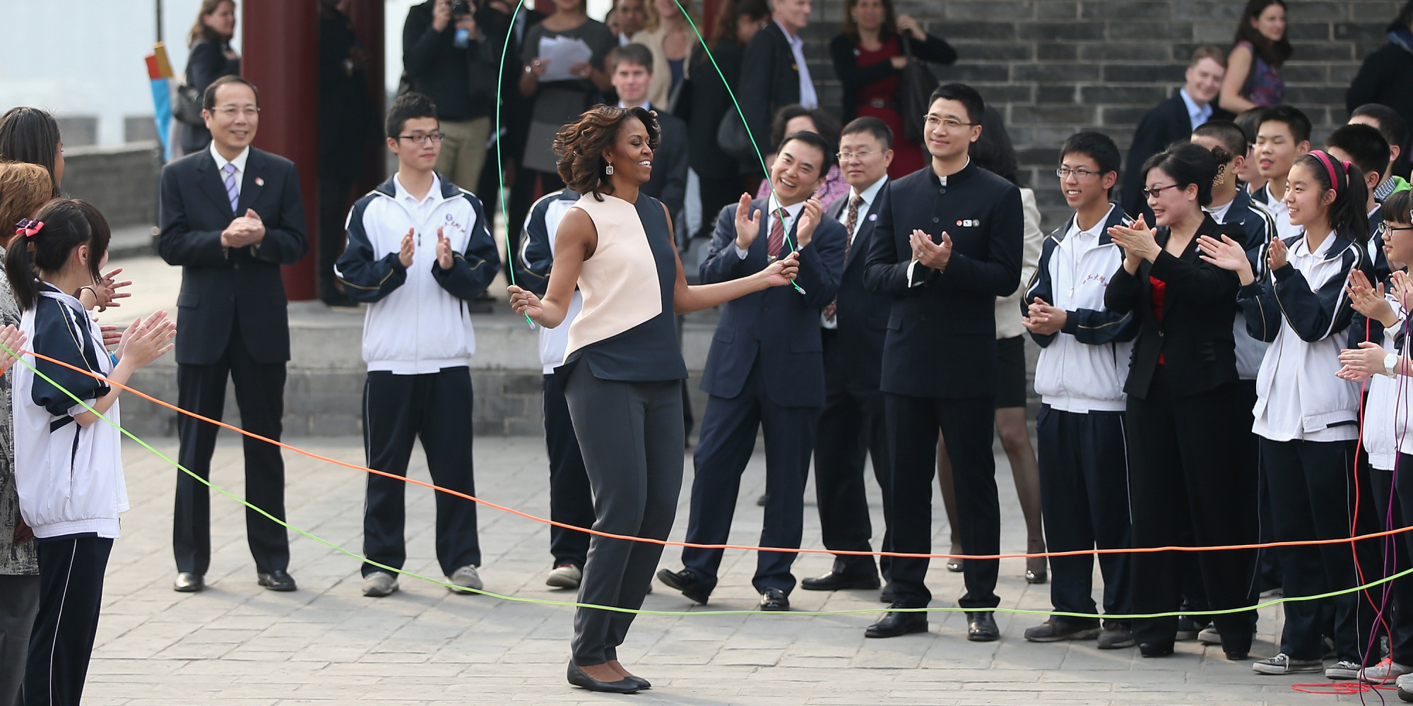 Michelle Obama S China Style Gets Jump Rope Friendly