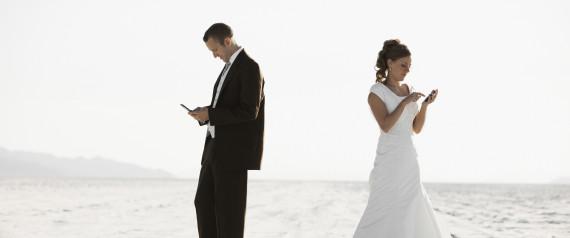 BRIDE GROOM TEXTING