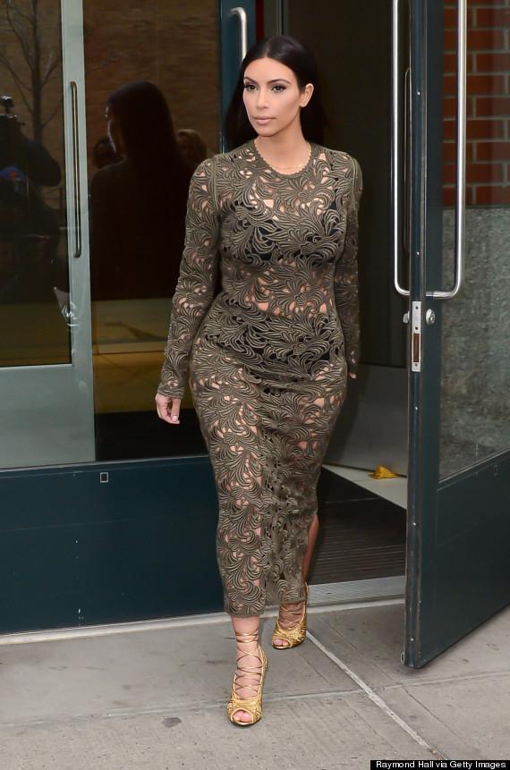 kim kardashian see through dress