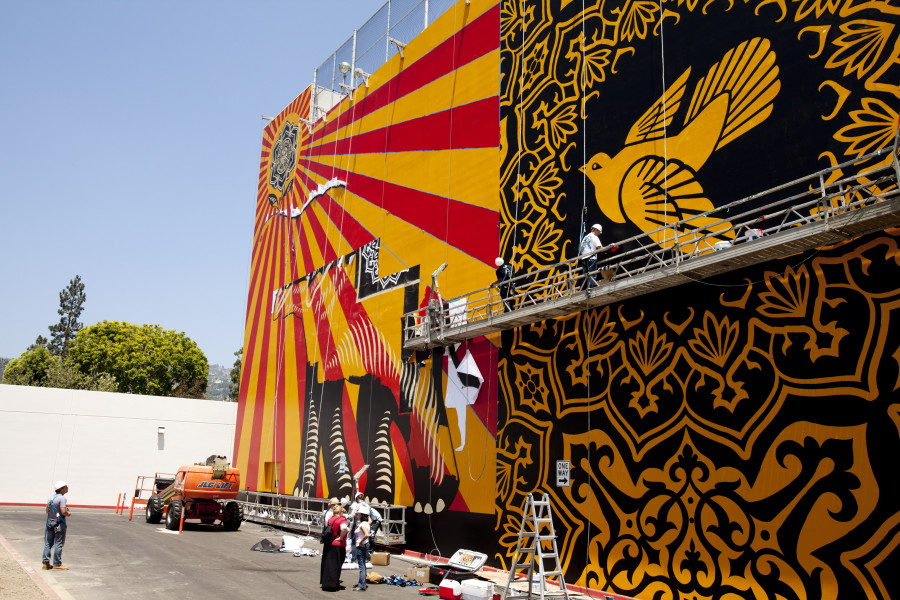 shepard fairey mural los angeles