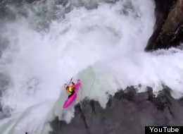 WATCH: What It's Like To Plunge Down A 60-Foot Waterfall