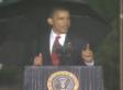 Obama Memorial Day Speech Cut Short By Rain, Lightning