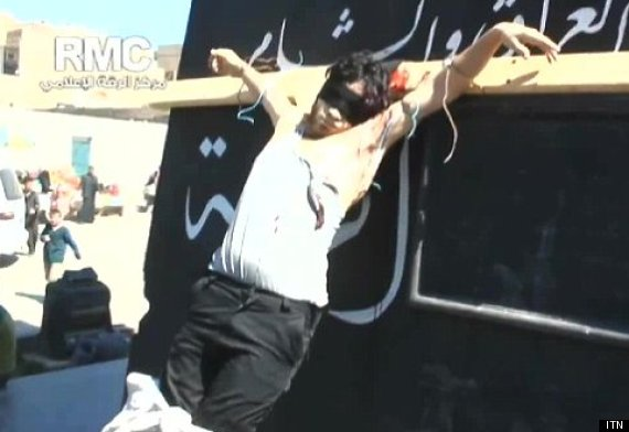 crucified syria