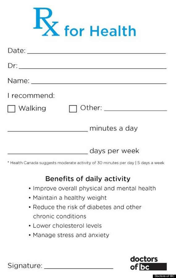 Image result for physical fitness prescription pad