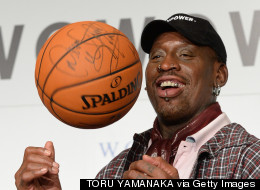 Dennis Rodman Wears Drag For Legends Of Basketball Tour