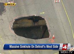 A Massive Sinkhole Opened In Detroit