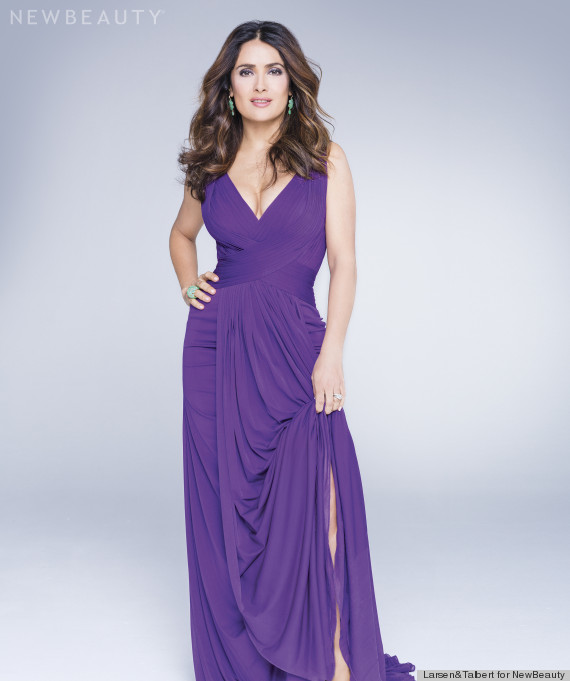 salma in purple