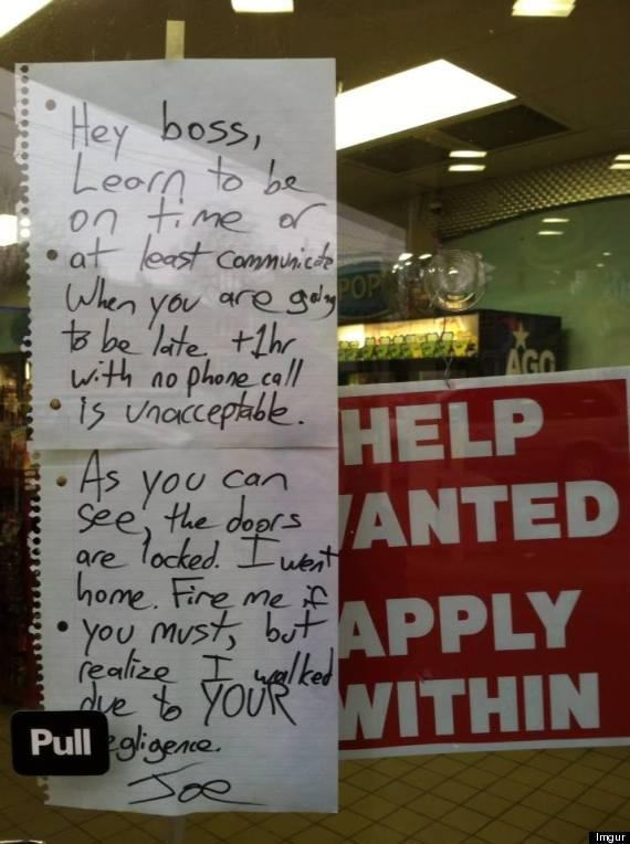 gas station note