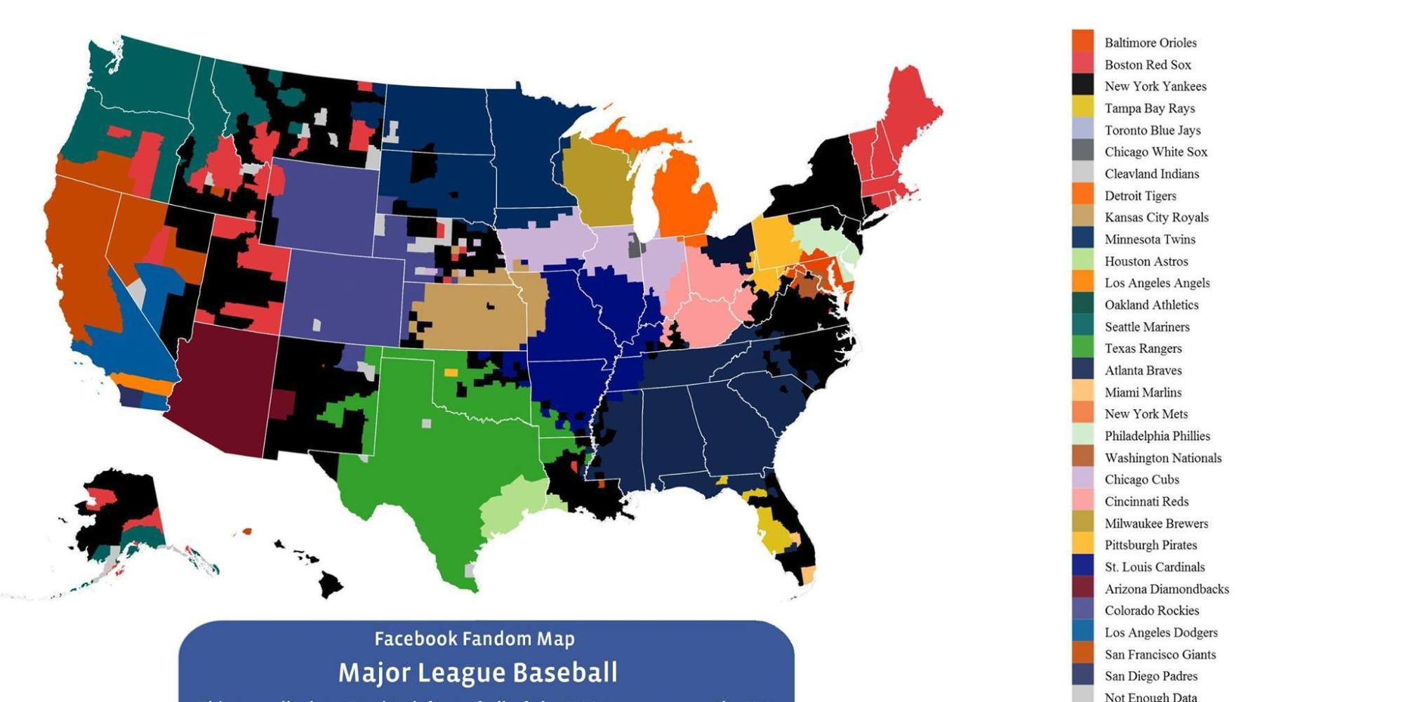 Facebook Data Creates Incredible Mlb Fan Map That Proves