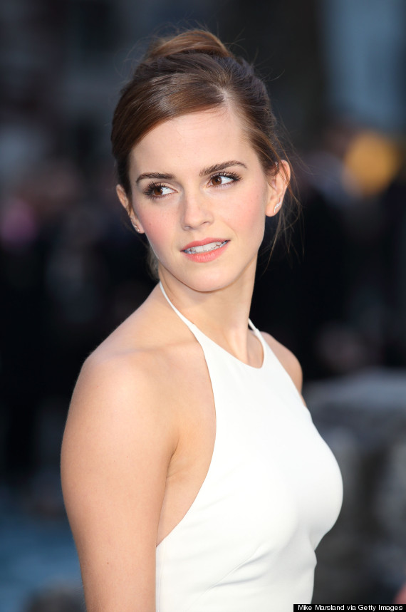 EMMA WATSON Stuns In White Backless Gown At Noah Premiere