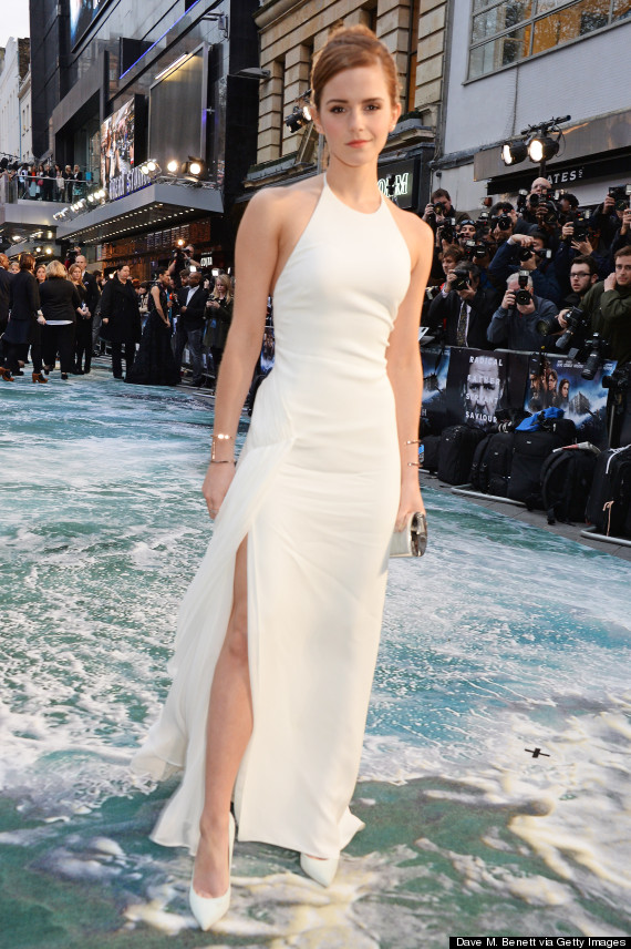Emma Watson Stuns In White Backless Gown At \'Noah\' Premiere | HuffPost