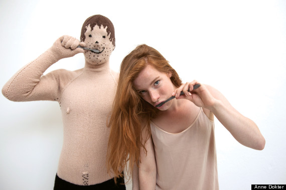 knitted bf brush teeth