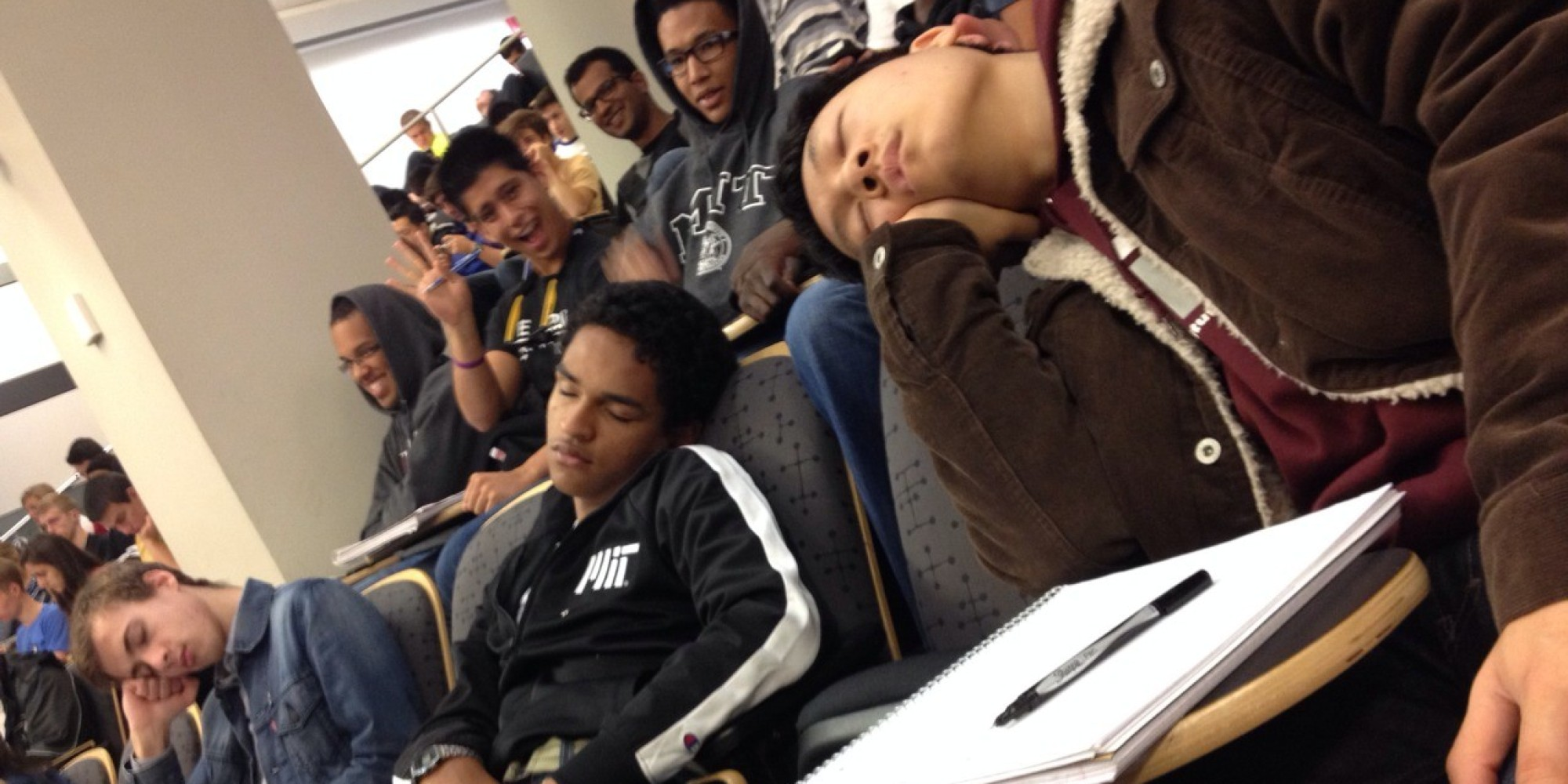 how to stop sleeping in class