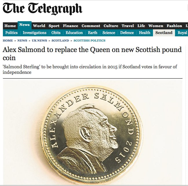 alex salmon pound coin april fool