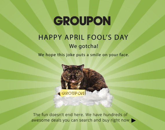 groupon april fool page
