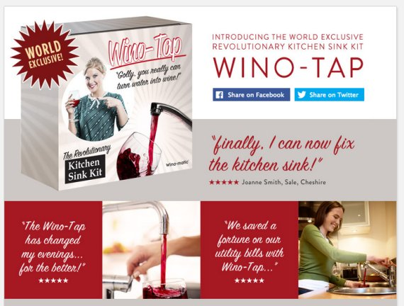 wino tap april fool