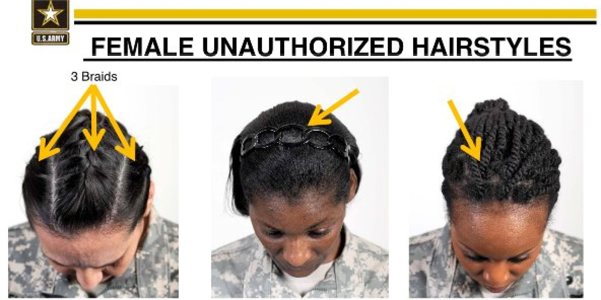 Superb Black Female Soldiers Criticize Army39S New Hairstyle Rules As Short Hairstyles Gunalazisus