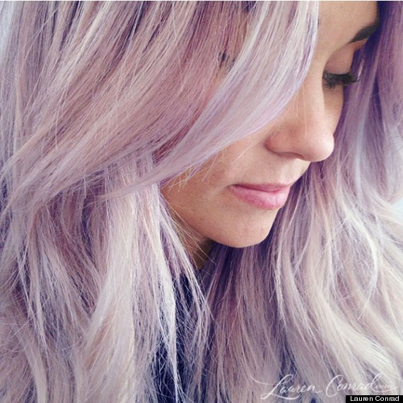 lauren conrad purple hair