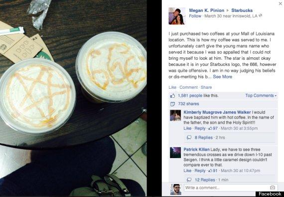 Starbucks Apologizes To Louisiana Woman For Satanic Latte Art Huffpost