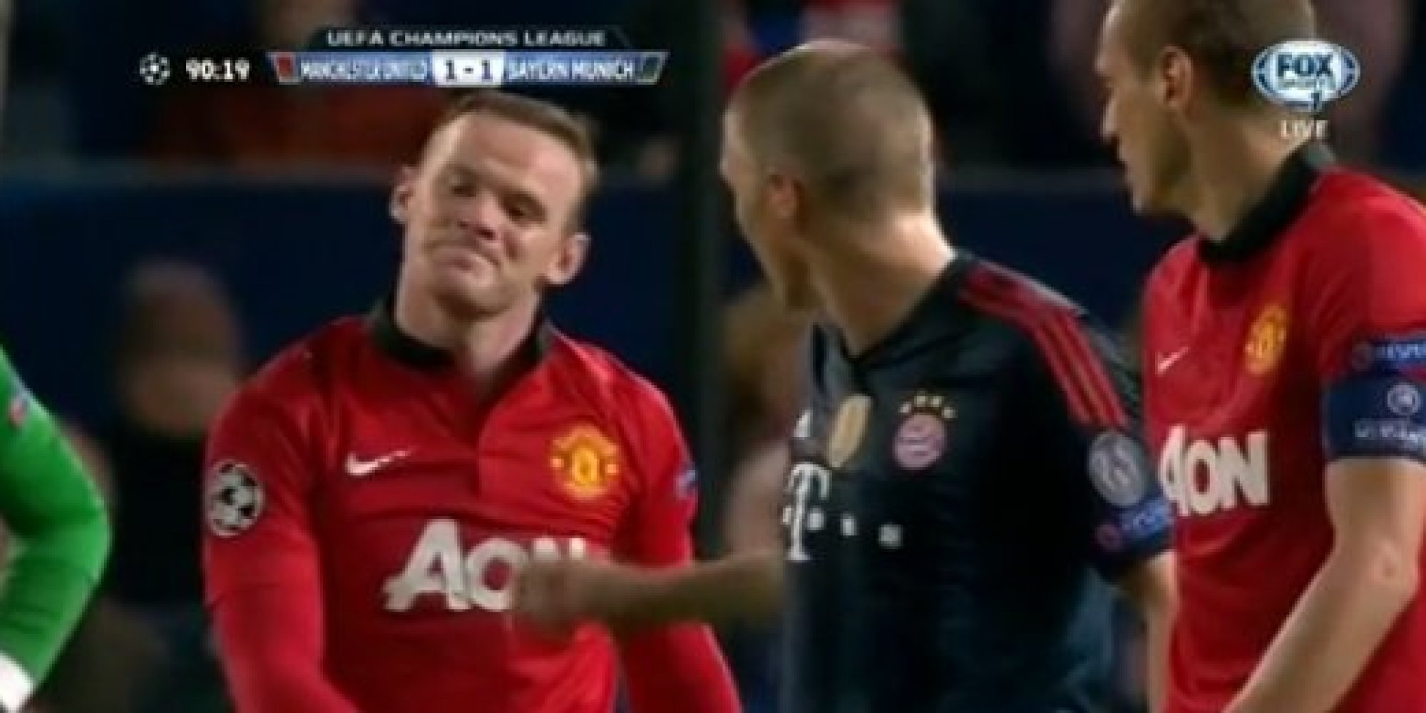 Liga Champions  - Kartu Merah Schweinsteiger, Ini Komentar Rooney