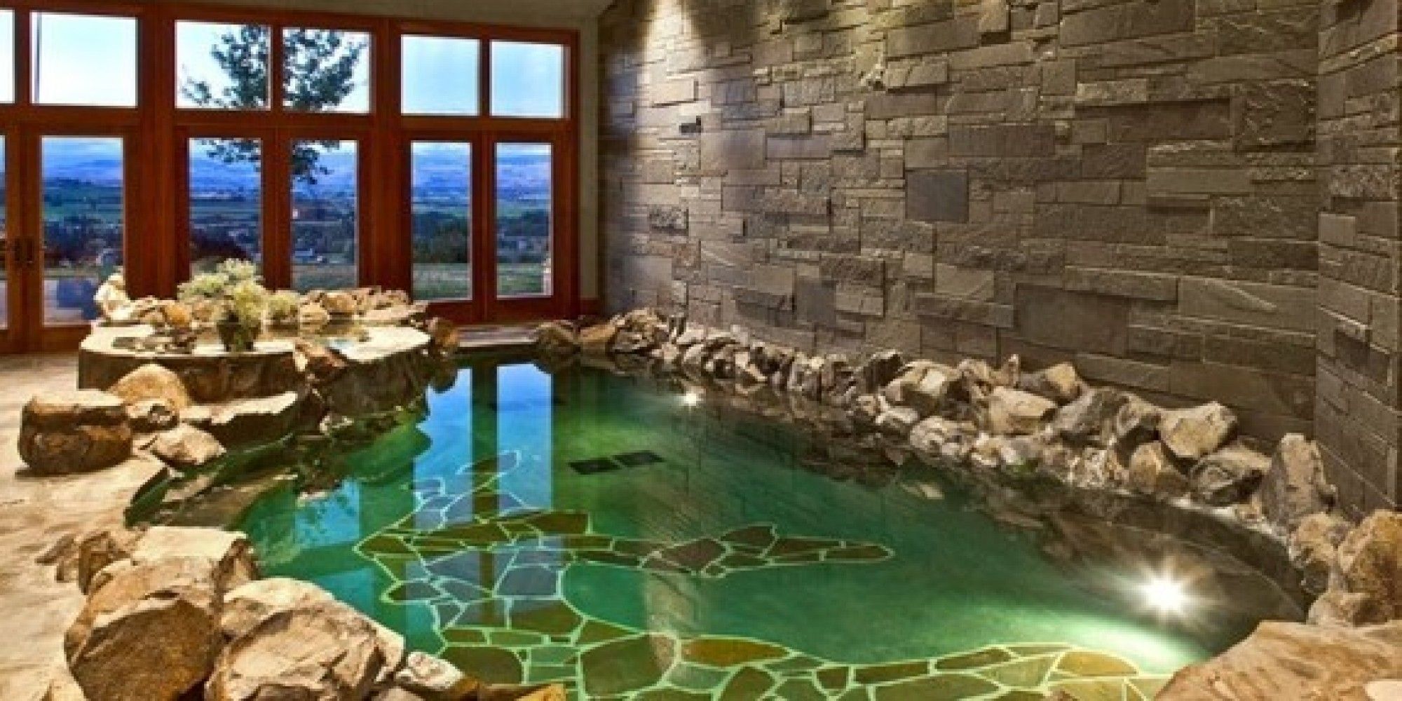 April pools 8 amazing indoor pools that could be yours - Indoor swimming pool with slides london ...