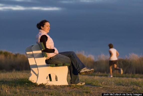 sunset park bench
