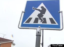 There's A Monty Python 'Ministry Of Silly Walks' Crossing Sign In Norway