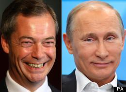 Vladimir Putin Now Free To Marry Nigel Farage