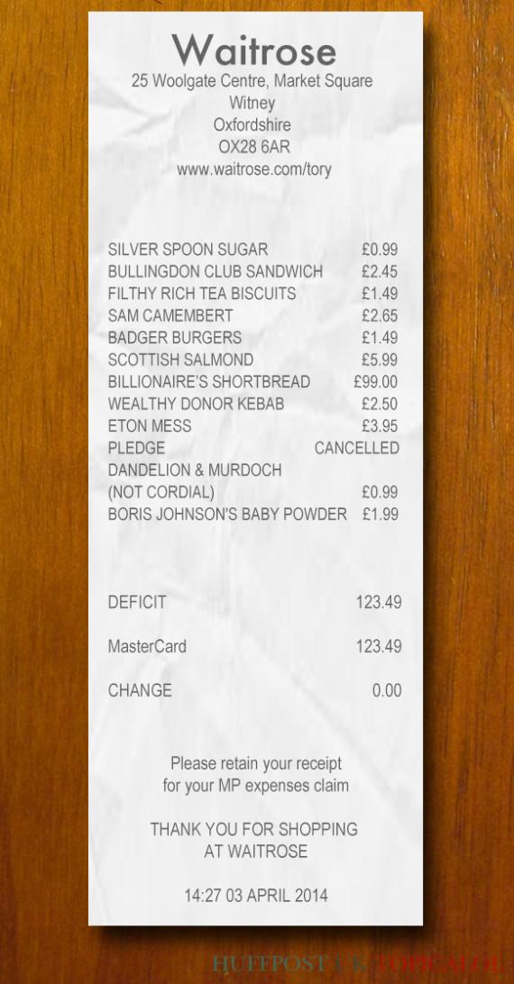 waitrose receipt