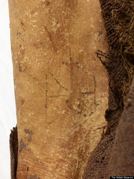 mummy found with christian tattoo of archangel michael on