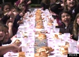 Students Set Out To Create (Messy) World Record For Longest PB&J Sandwich