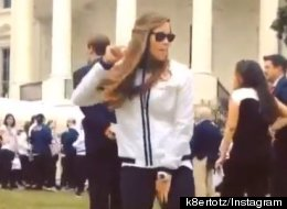 WATCH: Olympian Brings Viral Dance Routine To White House