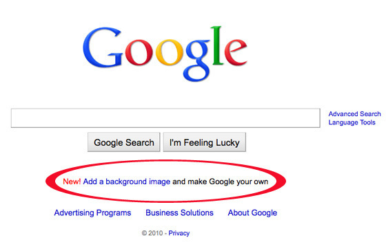 google background image how to remove and add images on google com