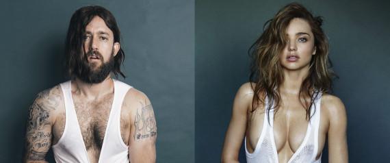 Miranda Kerr qui pose nue dans GQ a donné des idées à un groupe dartistes.