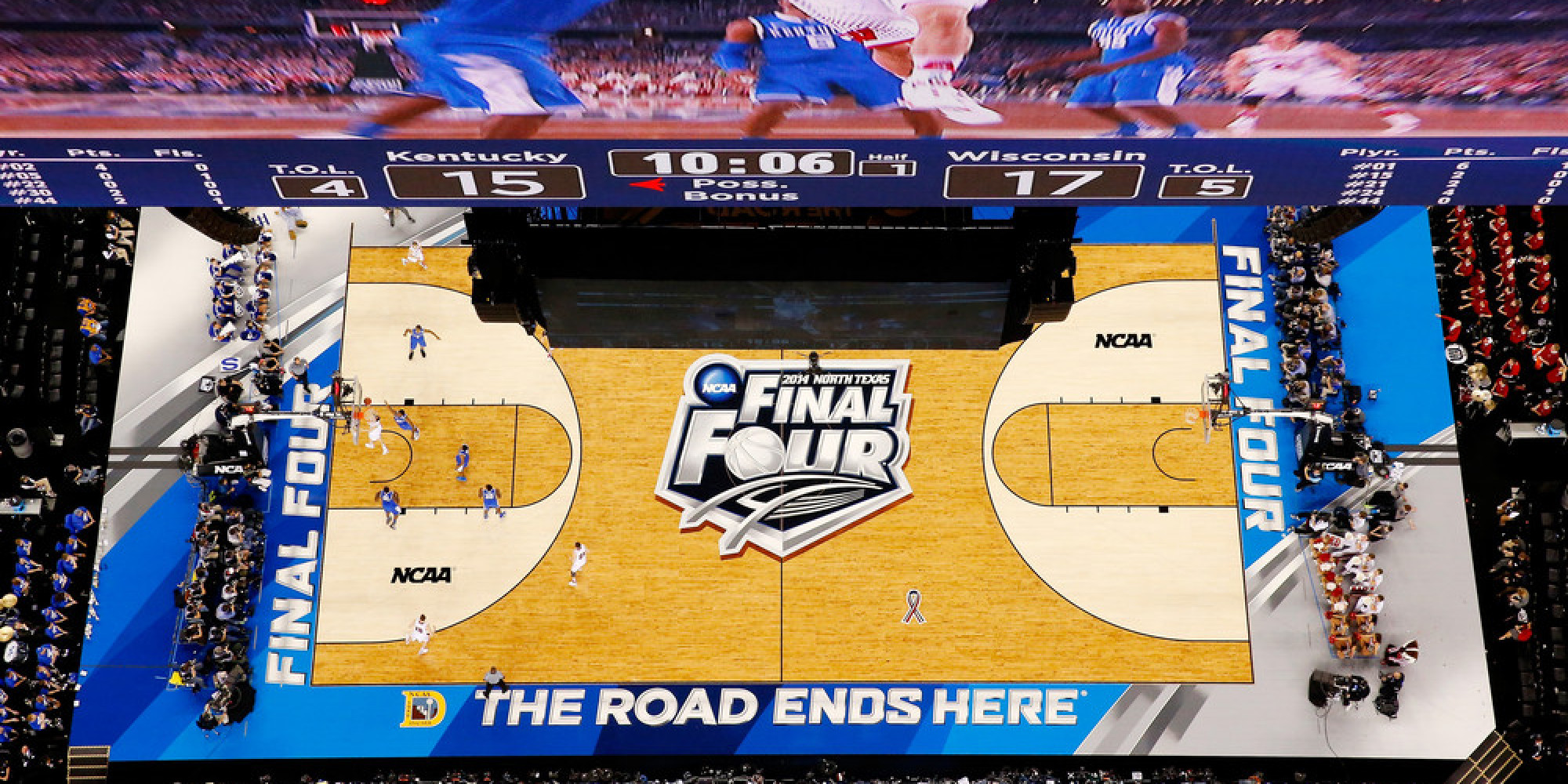 The Texas-Sized Video Screens At The Final Four Are Bigger Than The Basketball Court (PHOTOS)