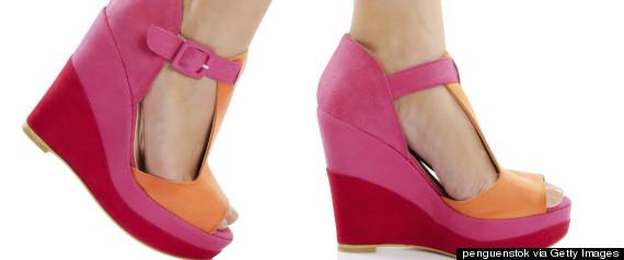 platform shoe foot