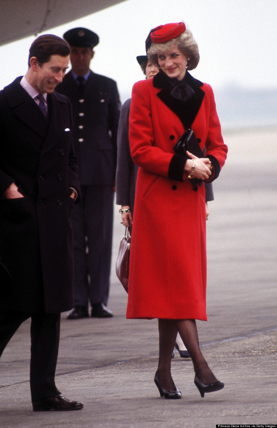 princess diana red coat