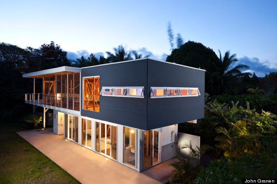 These stunning homes are built on top of lava and the for Modern homes hawaii