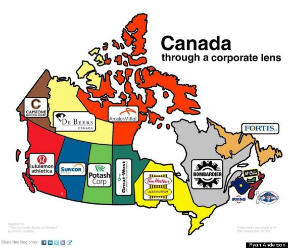 Canadas Corporate Map Updated PHOTO - Map of canada political