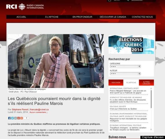 pauline marois radio canada