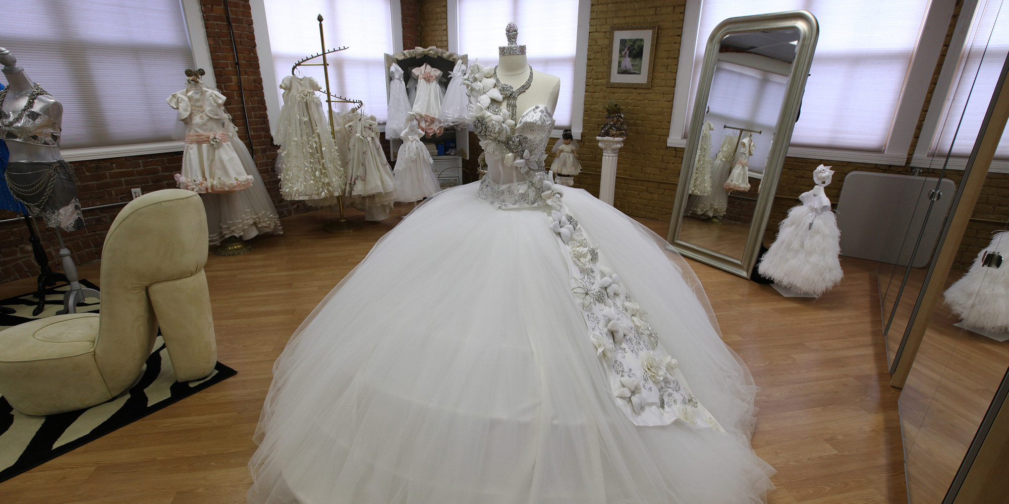 80 pound wedding dresses bedazzled in jewels this gypsy designer has