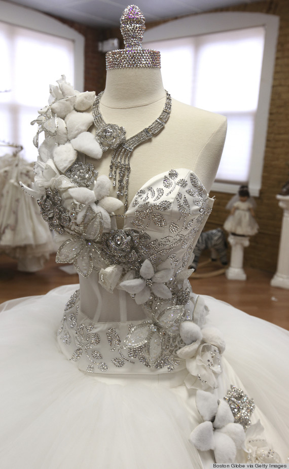 80 Pound Wedding Dresses Bedazzled In Jewels This Gypsy
