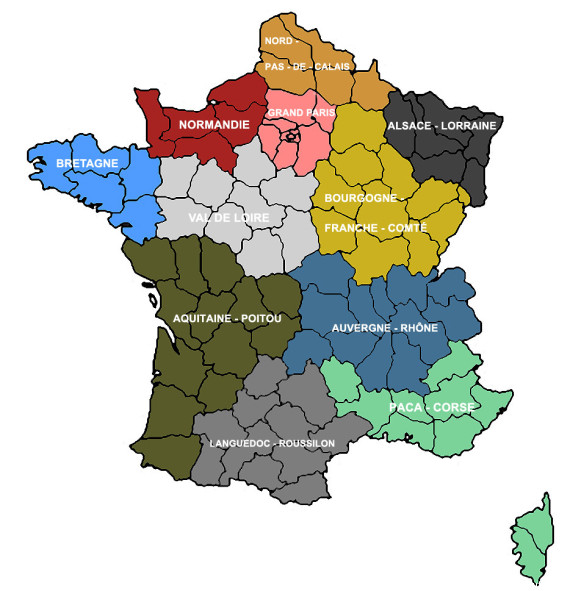 carte interieure regions