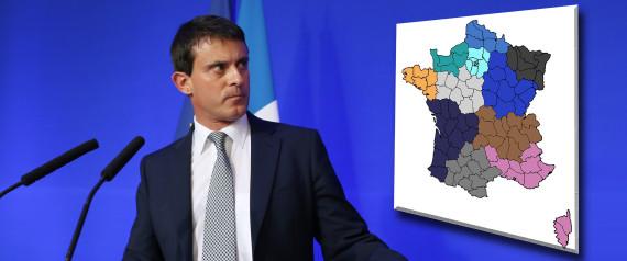 Les nouvelles régions dans France n-VALLS-CARTE-FRANCE-large570
