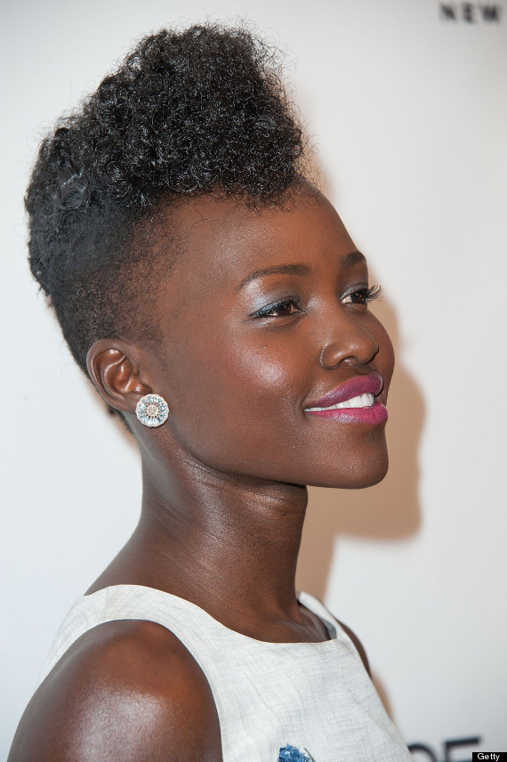 Lupita Nyong O Celebrates Marie Claire Cover In Cute Frock
