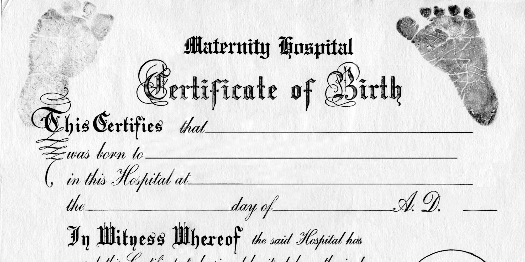 Does gender no longer work on birth certificates huffpost for Boy birth certificate template